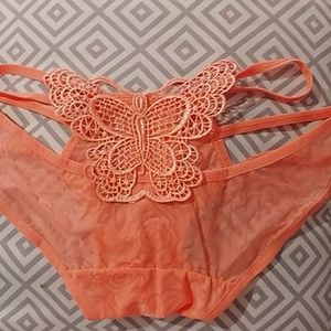Pink butterfly panties size 6